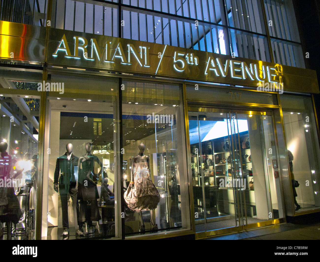 Armani store on 5th avenue in new york city stock photo for Armani store nyc