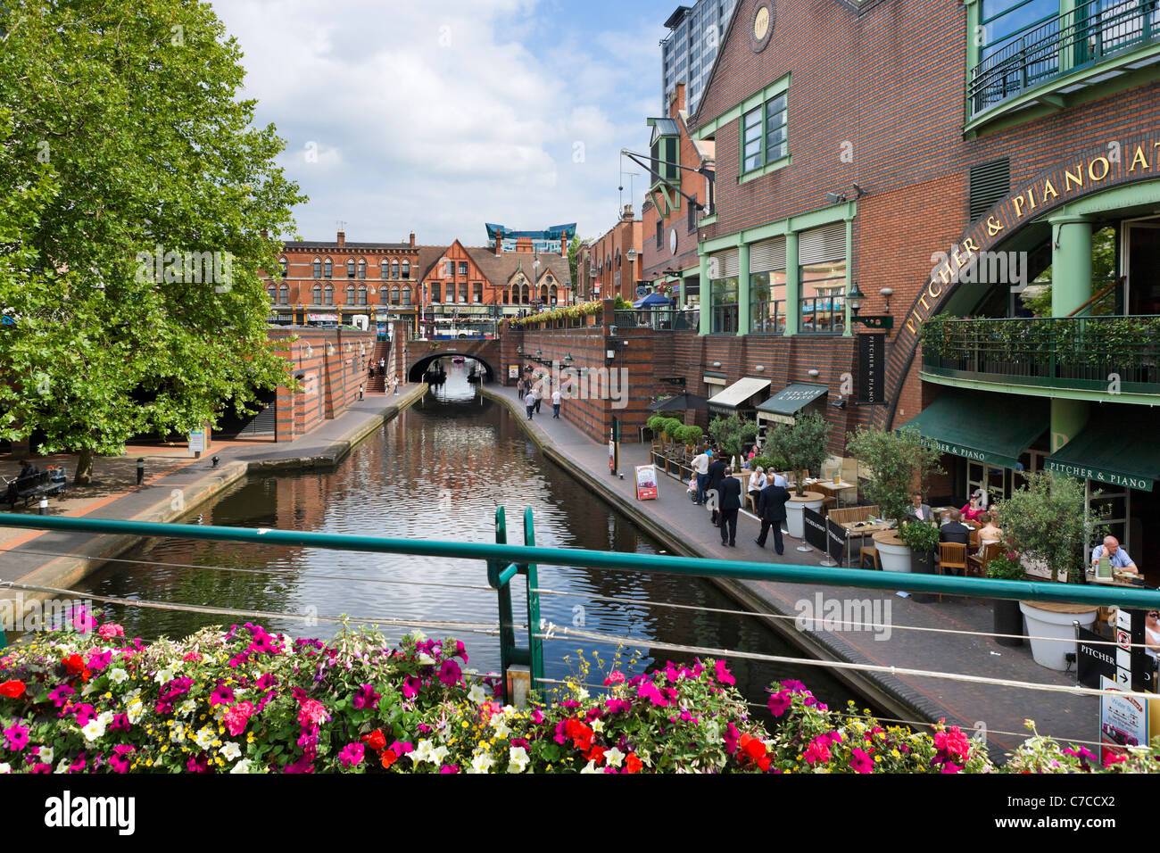 Restaurants On The Canal At Brindley Place Birmingham West Stock Photo Royalty Free Image