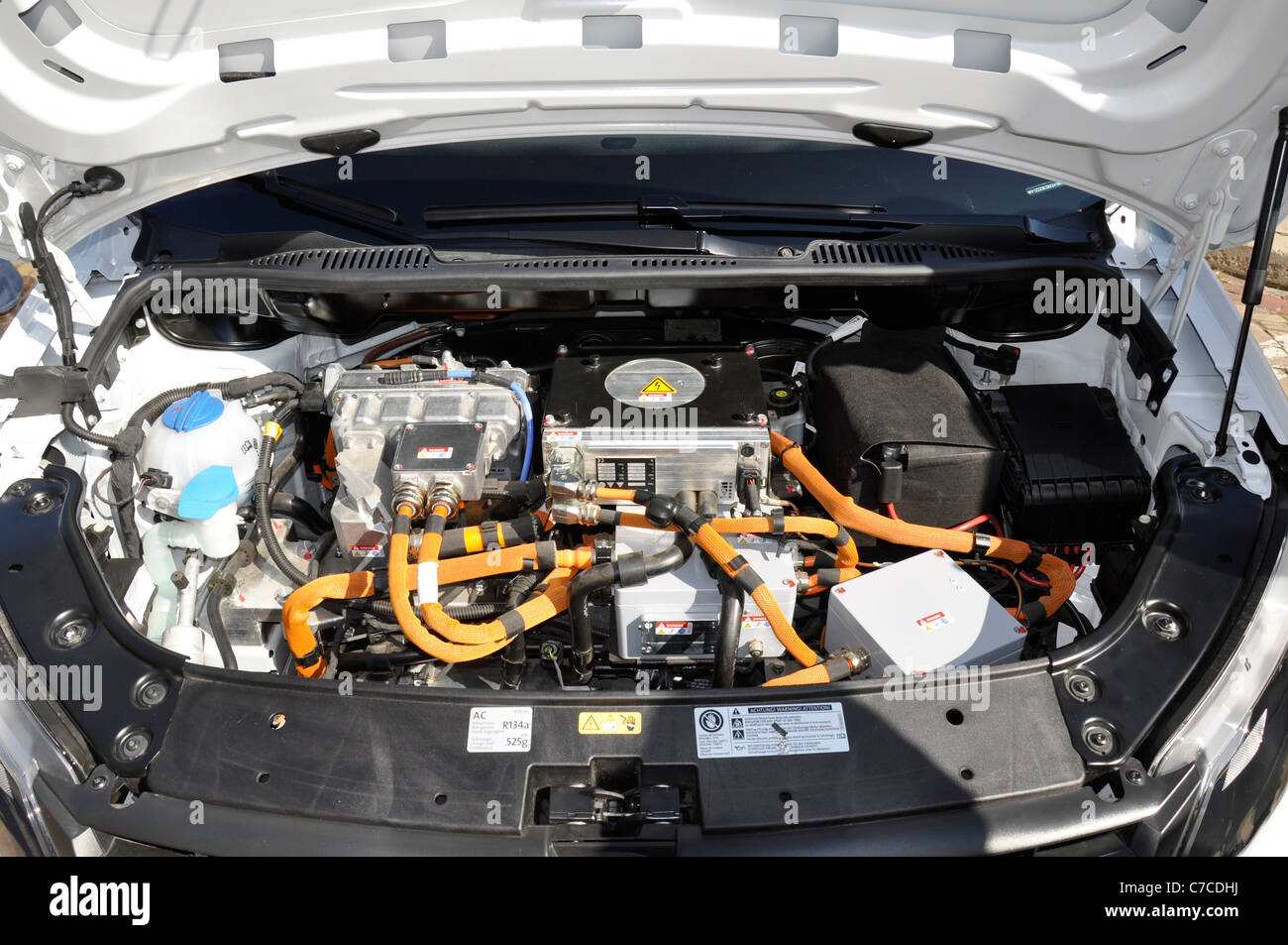 Electric Car Engine Compartment Stock Photos Electric Car Engine