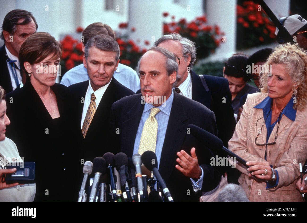US Secretary Of Agriculture Dan Glickman After President Bill Clinton  Personally Apologized To Cabinet About Lewinsky Scandal