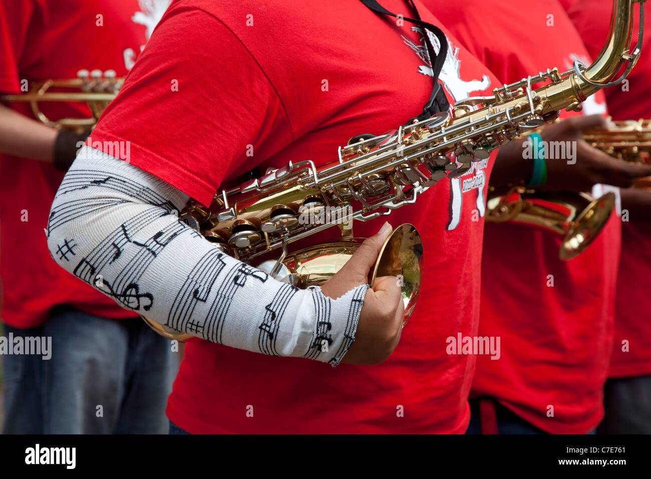 Lansing, Michigan - The Everett High School Marching Band Stock ...