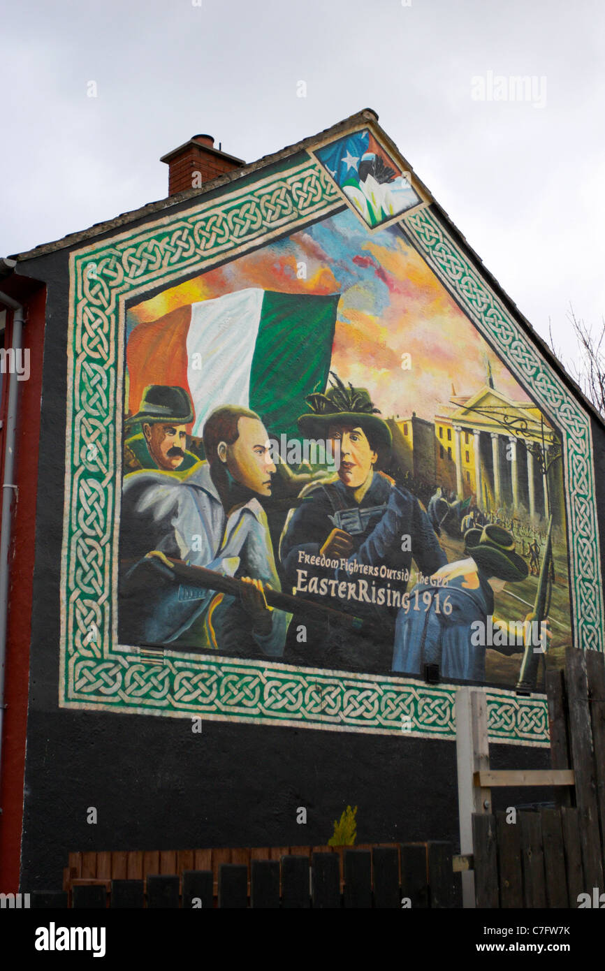 Easter rising 1916 republican wall mural painting for Easter rising mural