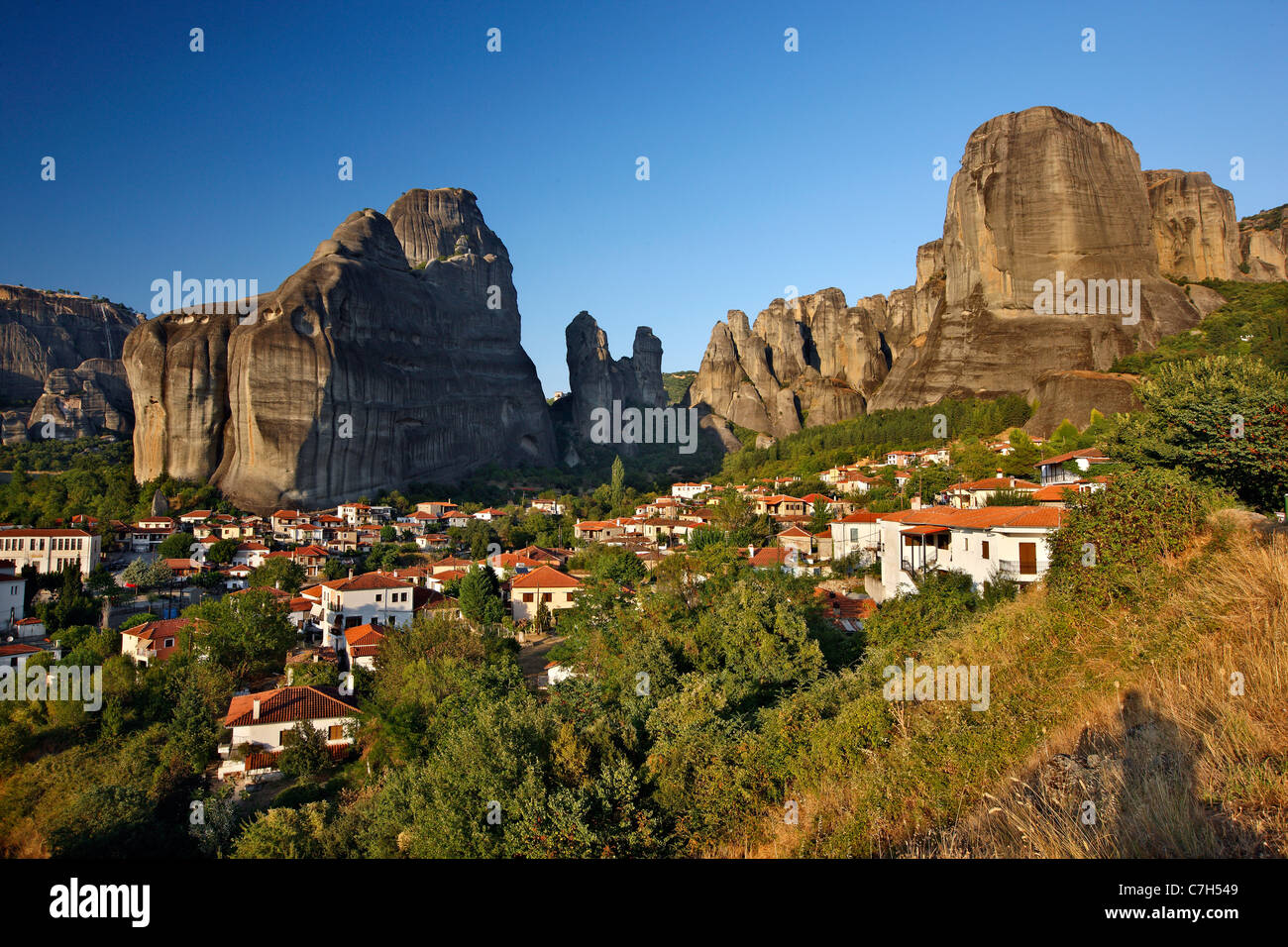 Kastraki village in the