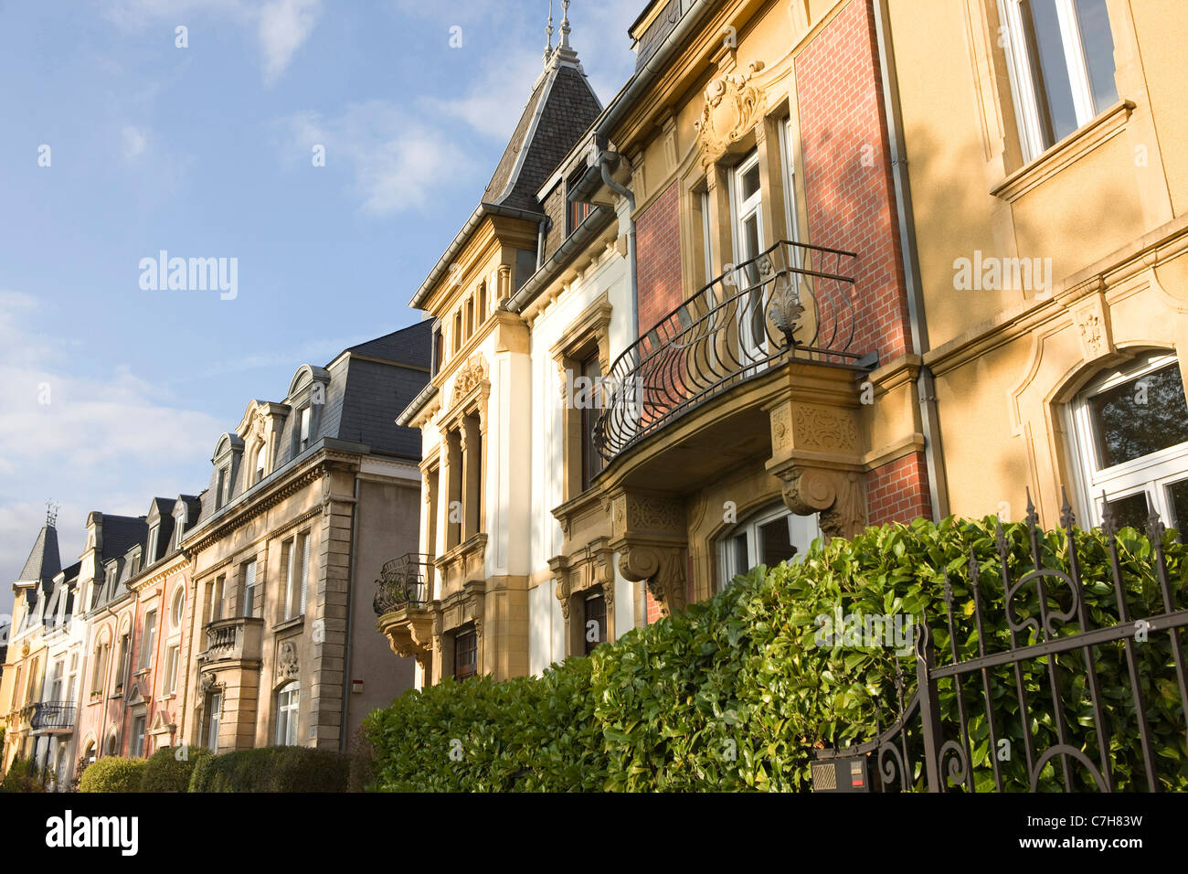 Luxembourg city old town houses at the boulevard de la for Luxembourg homes