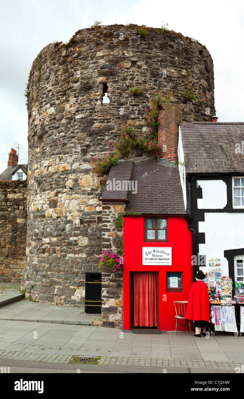 Smallest House In The World the smallest house in the world at conwy, north wales stock photo