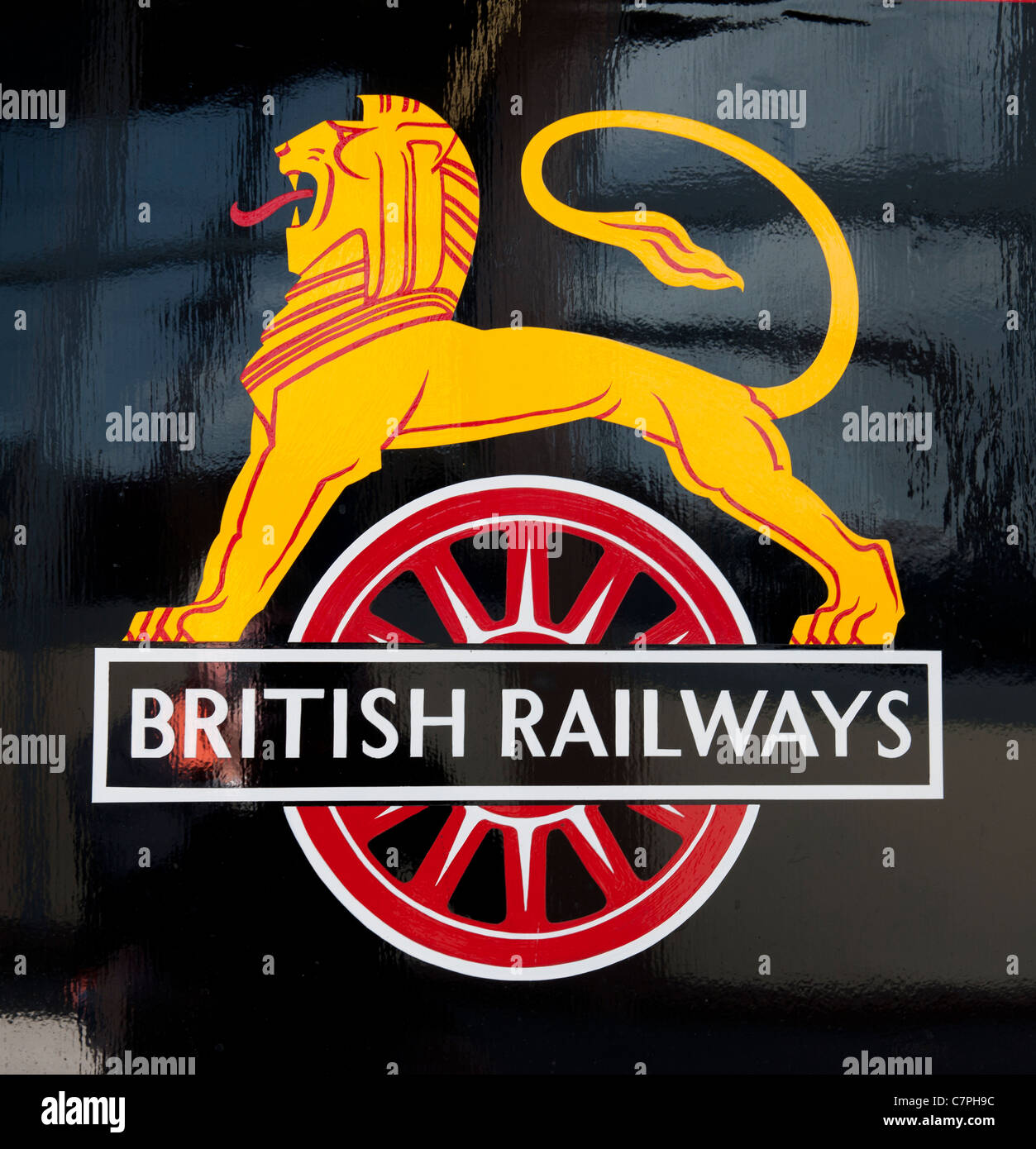 British railways logo painted on torquay manor steam locomotive british railways logo painted on torquay manor steam locomotive paignton to dartmouth steam biocorpaavc Images