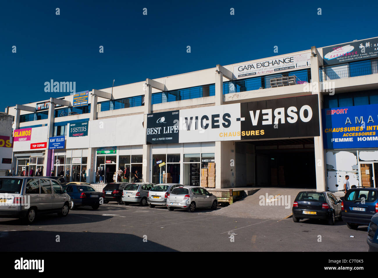 aubervilliers france chinese wholesale shopping center centre stock photo royalty free. Black Bedroom Furniture Sets. Home Design Ideas