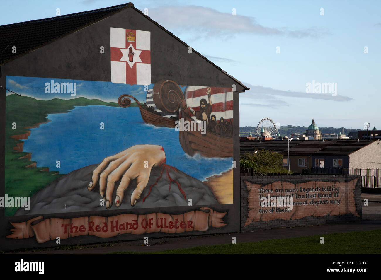 Red hand ulster loyalist wall mural lower shankill road for Mural northern ireland