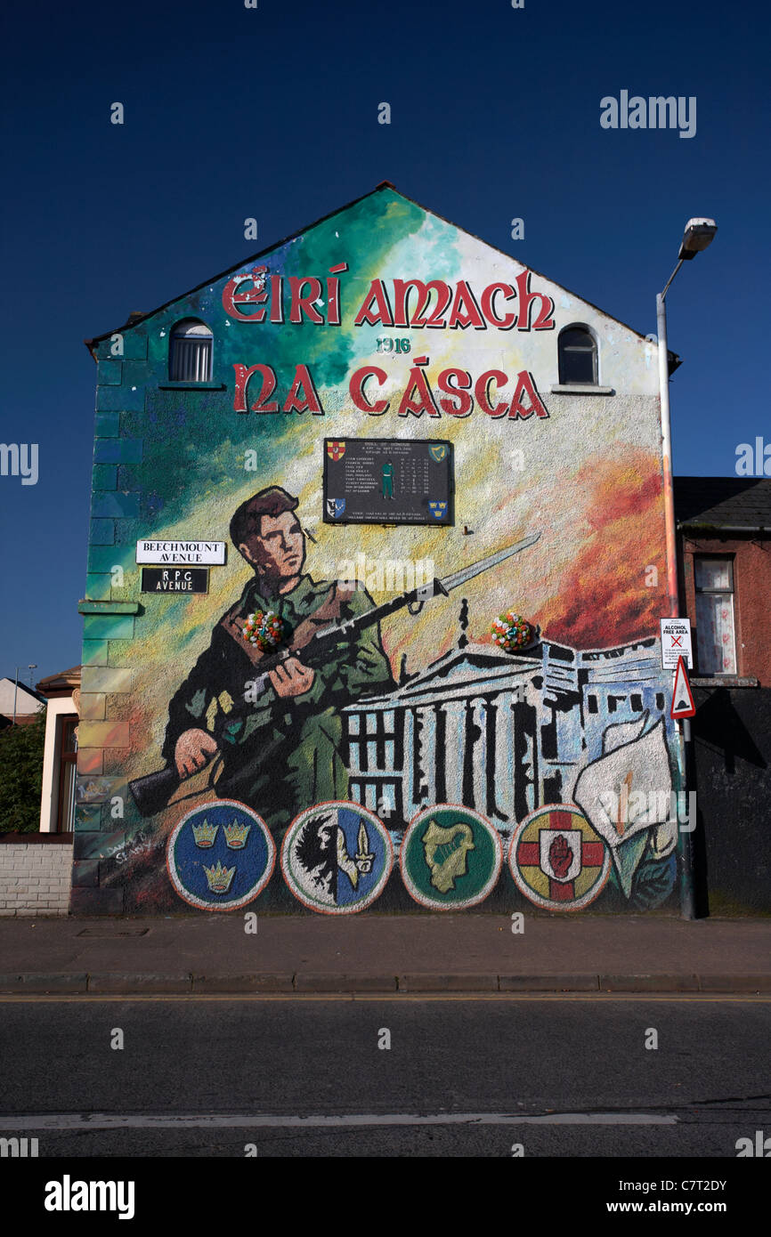 Republican easter rising mural beechmount avenue and for Easter rising mural