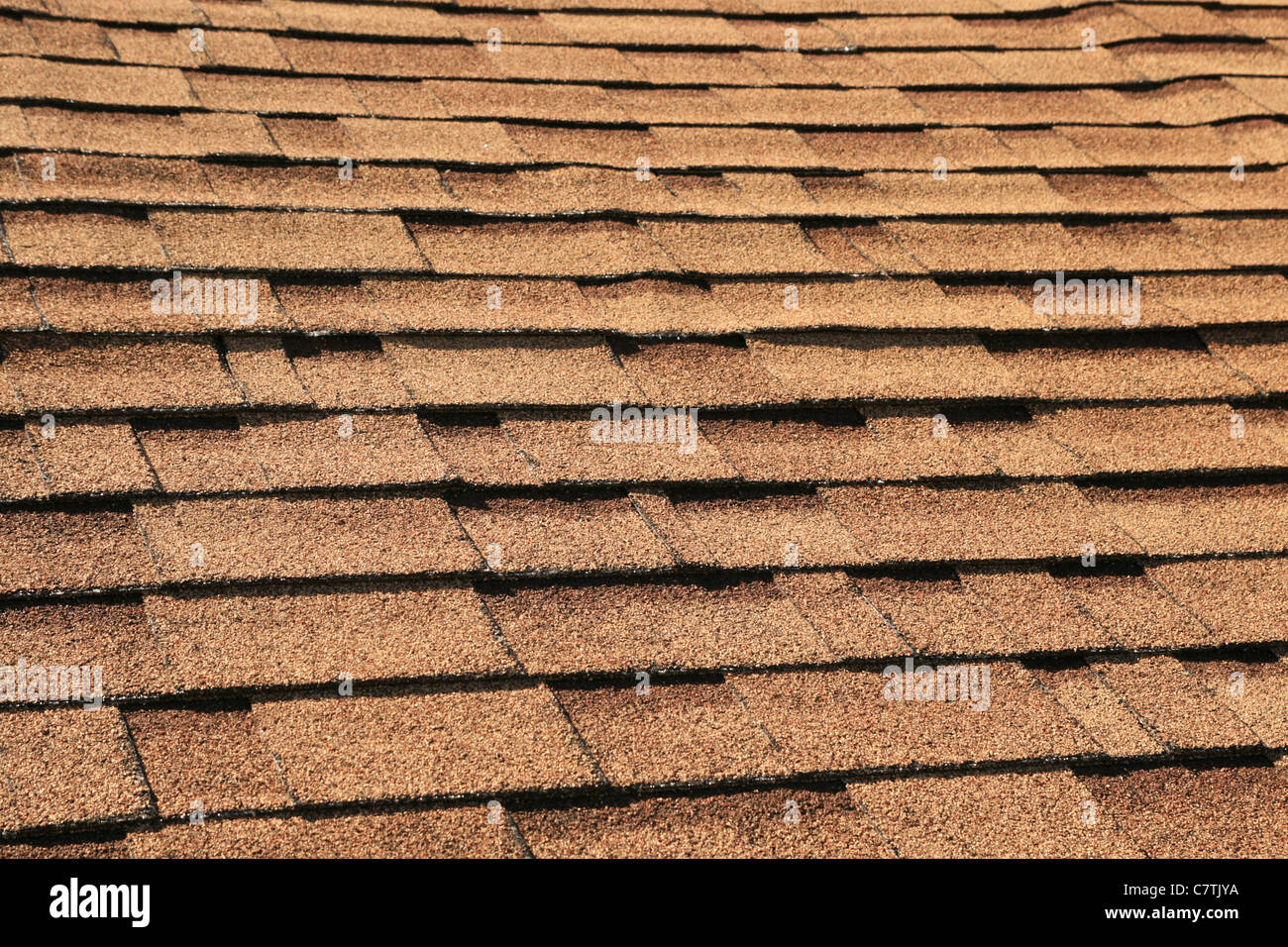 Stock Photo   Horizontal Background Of Brown Roof Shingles