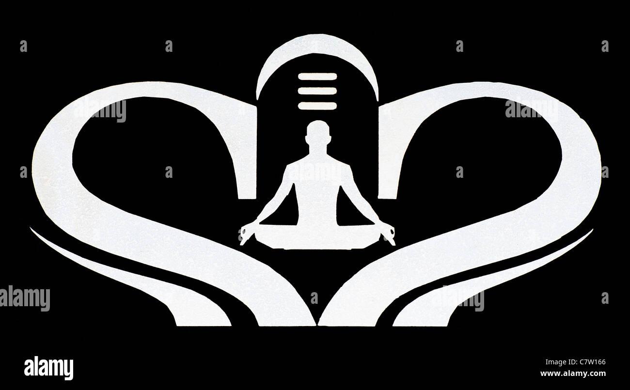 Black and white yoga meditation shiva lingum symbol stock photo black and white yoga meditation shiva lingum symbol biocorpaavc Image collections