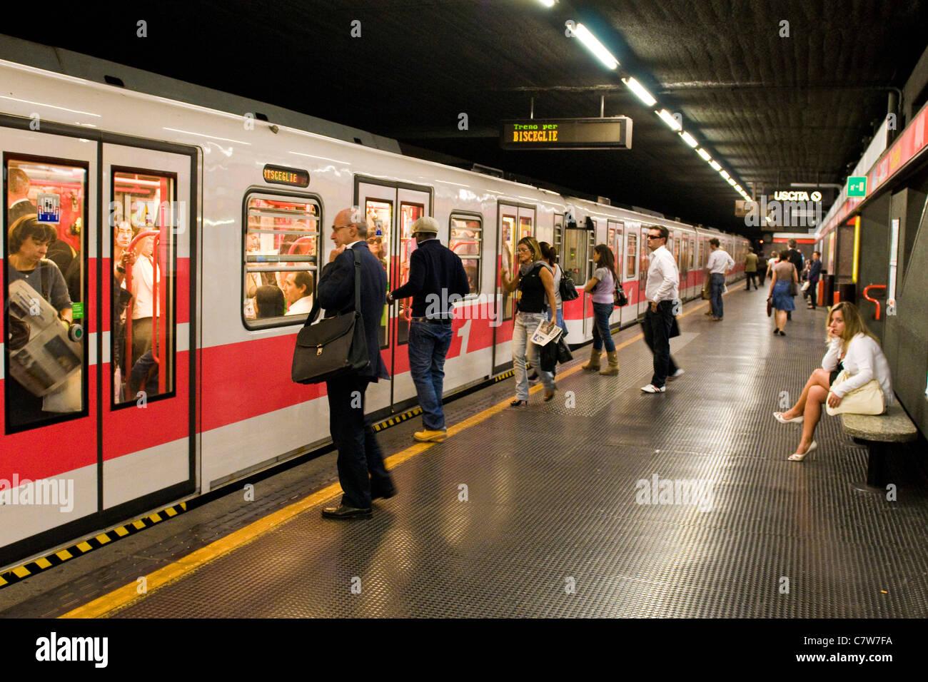 Italy, Lombardy, Milan, subway train Stock Photo, Royalty Free ...