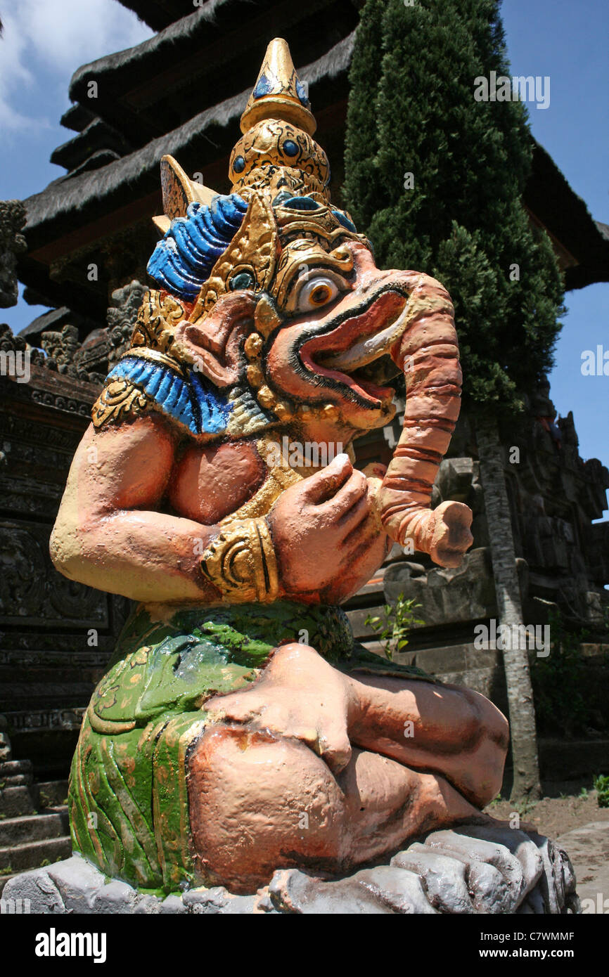 Elephant God Statue at A Bali Hindu Temple Stock Photo ...