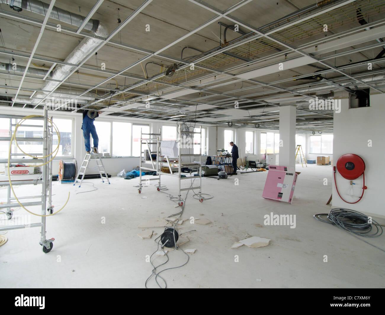 Interior Office Building Under Construction Stock Photos ...