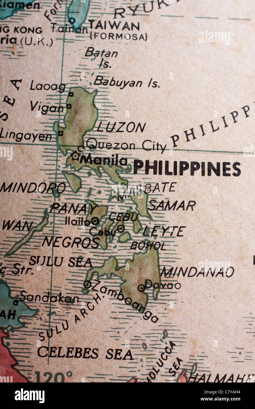 Map of the Philippines Stock Photo Royalty Free Image 39324352