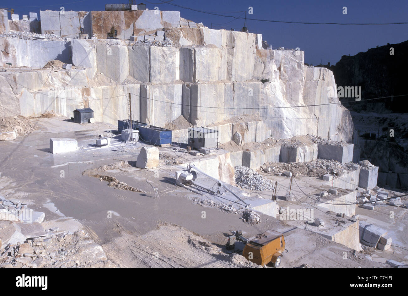 Italy Tuscany Apuan Alps Quarry Of Carrara Marble Stock
