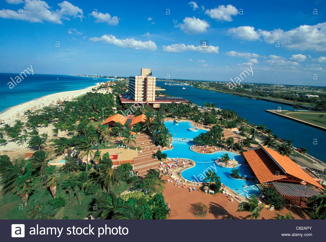 Cuba varadero the beach and hotel paradiso stock image