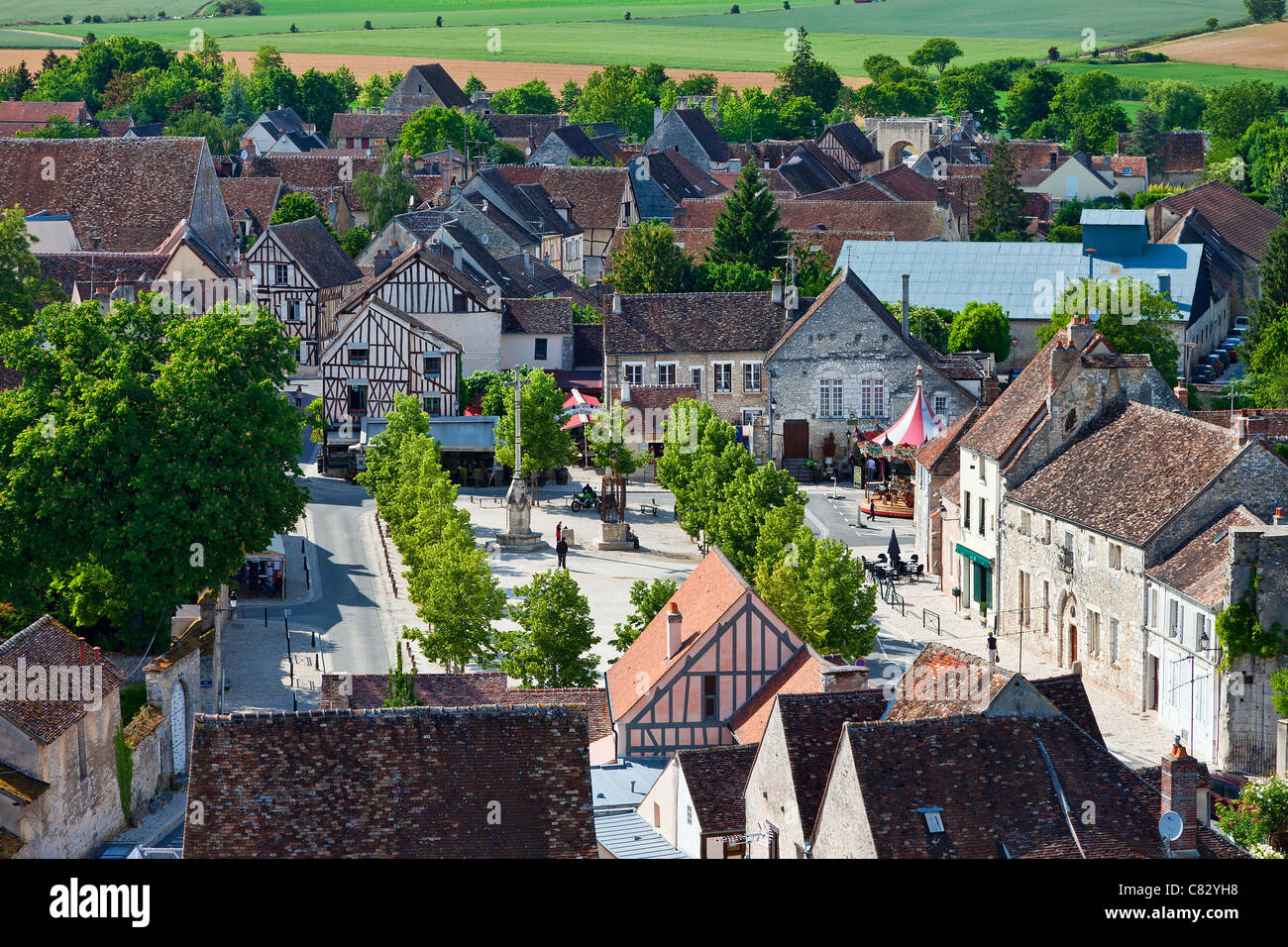 france seine et marne provins listed as world heritage by unesco stock photo royalty free. Black Bedroom Furniture Sets. Home Design Ideas