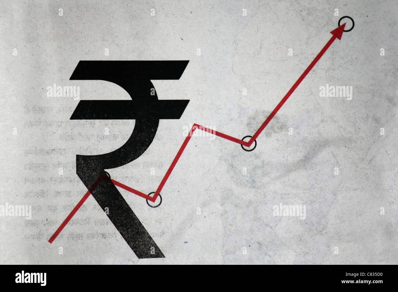 Rupee symbol stock photos rupee symbol stock images alamy rupee symbol with arrow graph stock image buycottarizona