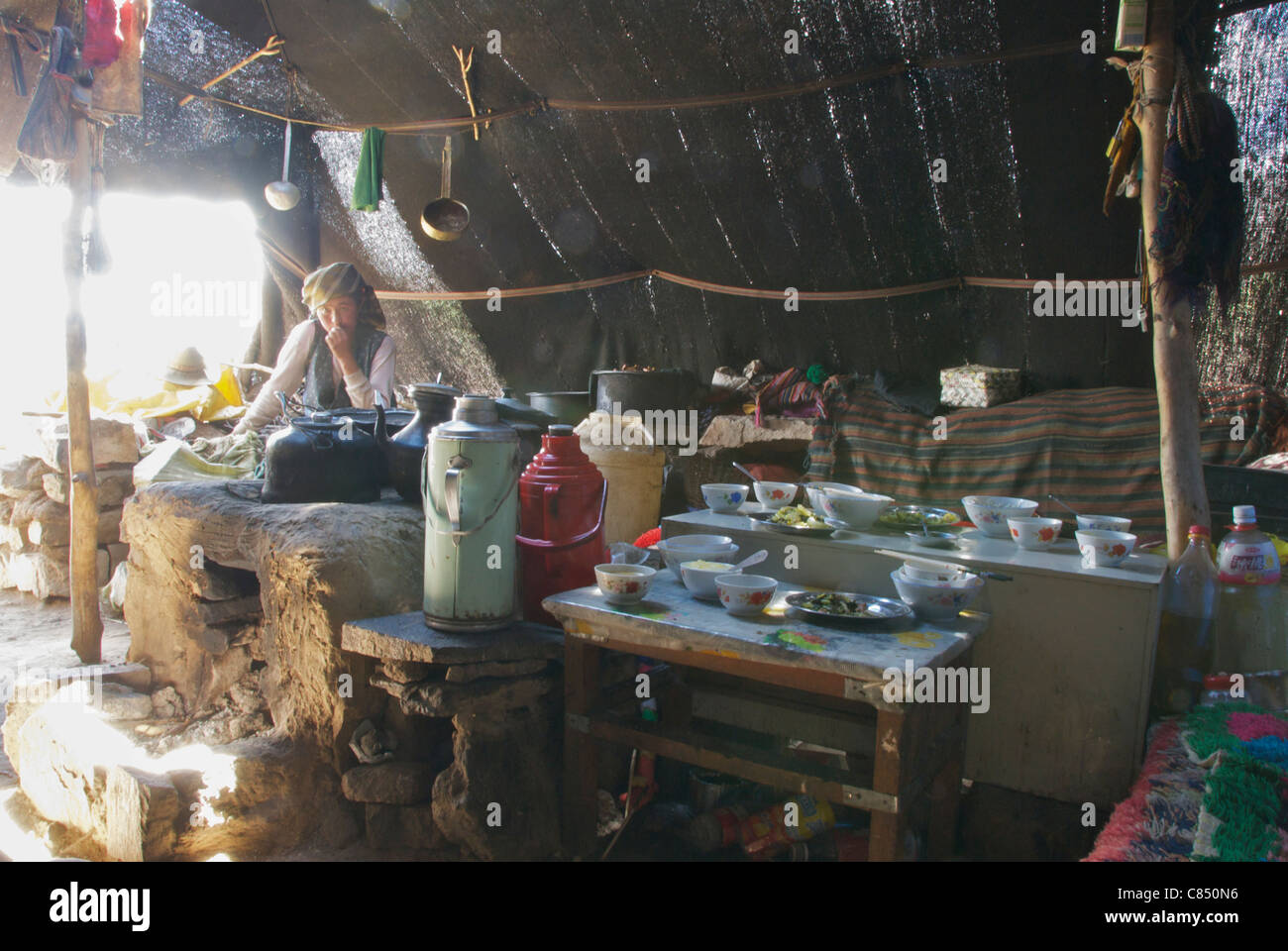 interior of a nomads tent & interior of a nomads tent Stock Photo Royalty Free Image ...