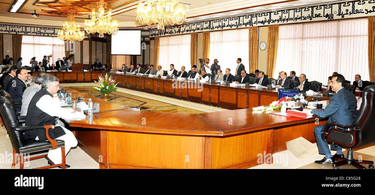 Prime Minister, Syed Yousuf Raza Gilani Chairs The Federal Cabinet Meeting
