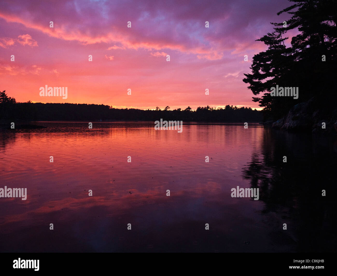Beautiful sunset over somes sound in arcadia national park me usa beautiful sunset over somes sound in arcadia national park me usa sciox Choice Image