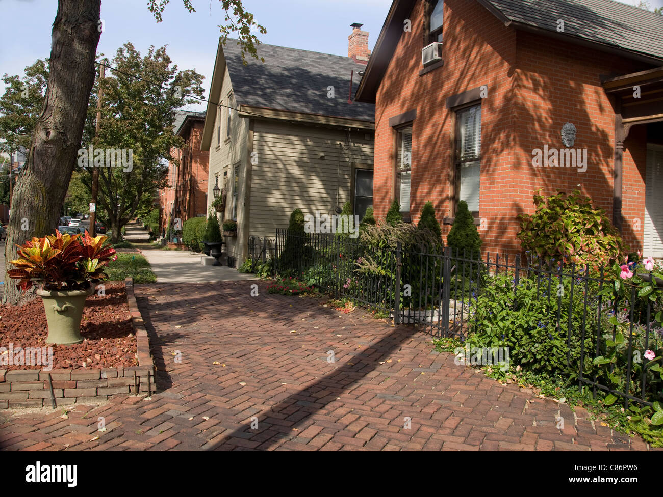 Historic Homes In The German Village Area Of Columbus