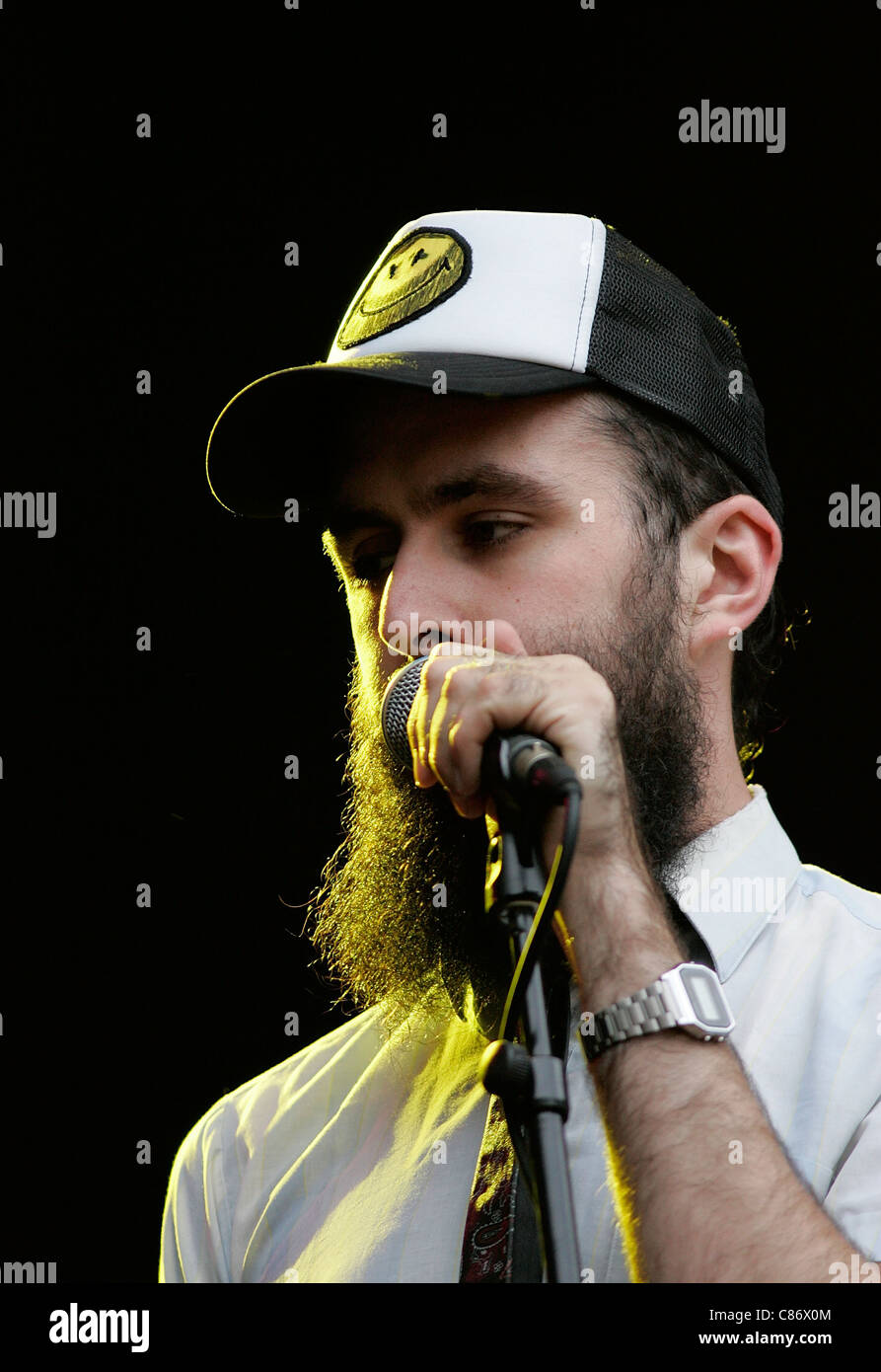 BELFAST, UNITED KINGDOM - AUGUST 15: <b>David Meads</b> AKA Scroobius Pip performs ... - belfast-united-kingdom-august-15-david-meads-aka-scroobius-pip-performs-C86X0M