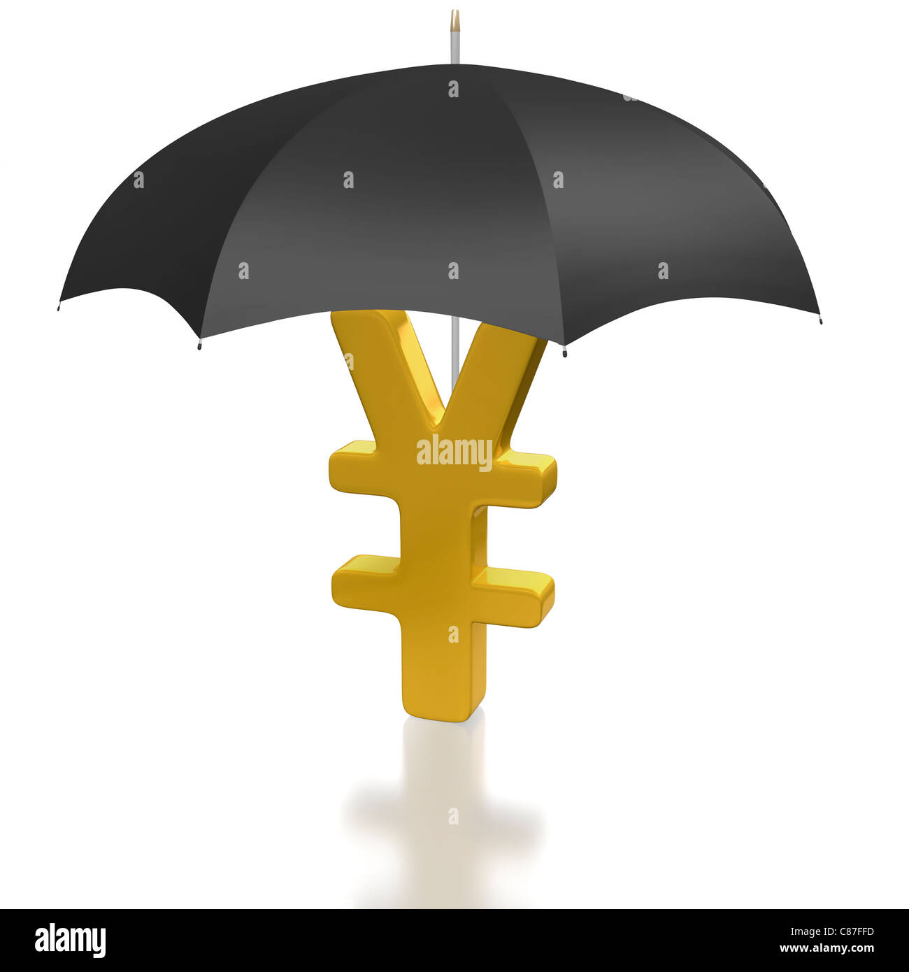 Japanese yen symbol covered by a protecting umbrella stock photo japanese yen symbol covered by a protecting umbrella biocorpaavc Choice Image