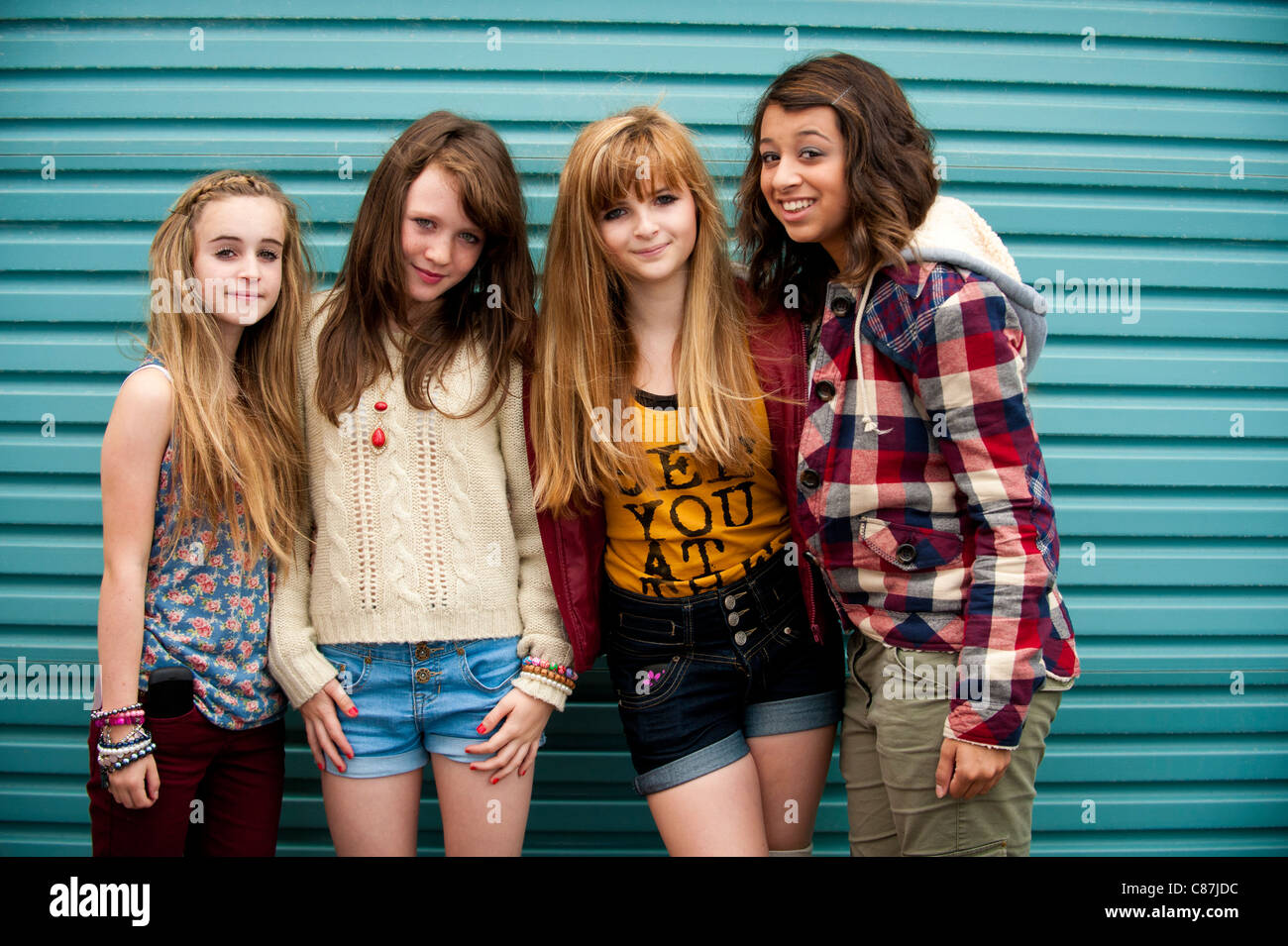 Group of pretty girls