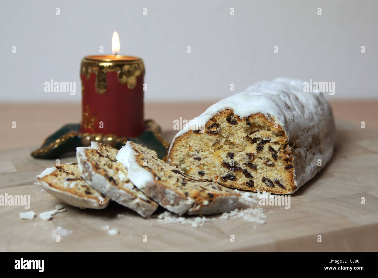 Stollen (traditional german christmas cake Stock Photo, Royalty ...