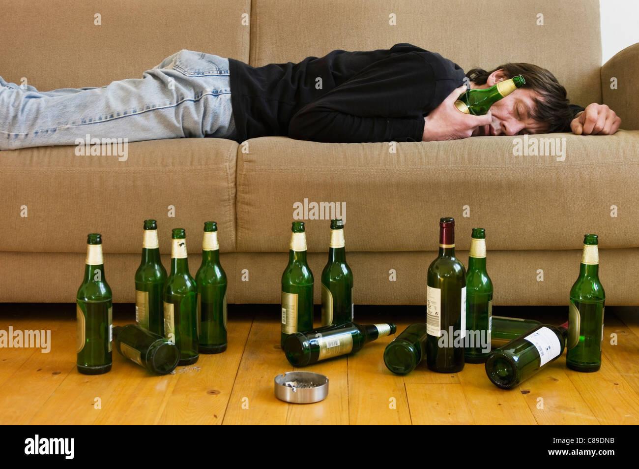 Empty Beer Bottle Living Room