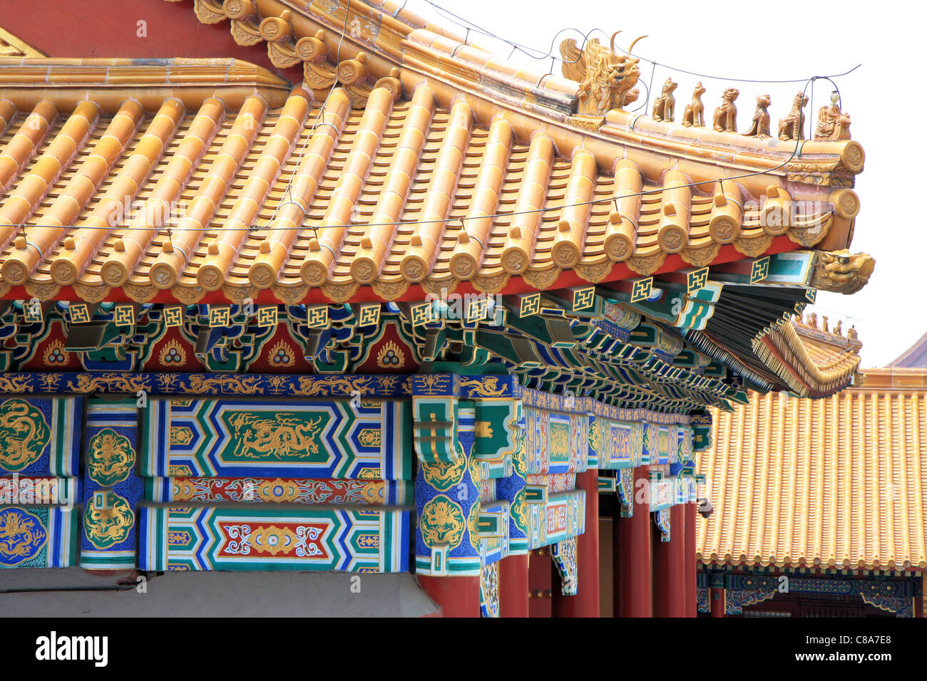 The Forbidden City In Beijing Roof Corner Detail China