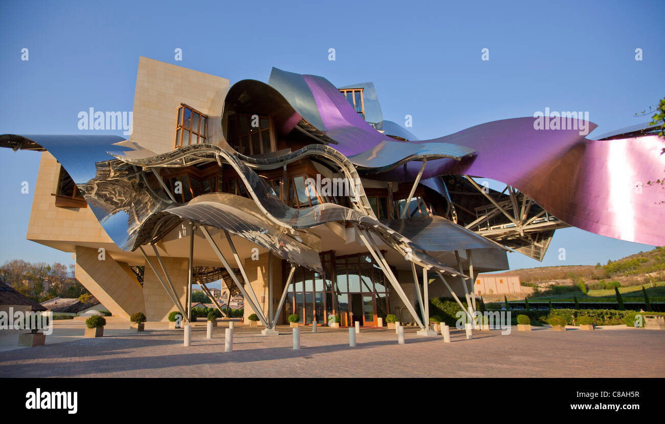 Marqu s de riscal winery hotel by architect frank ghery for Hotel el ciego marques de riscal