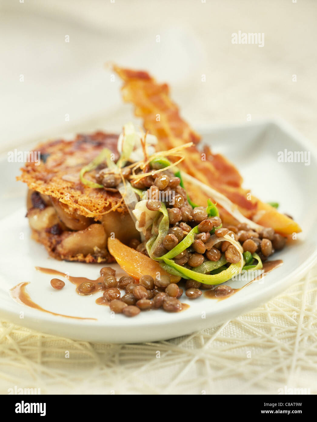 bacon sauteed leeks with bacon and bacon and leek lentils pin bacon ...