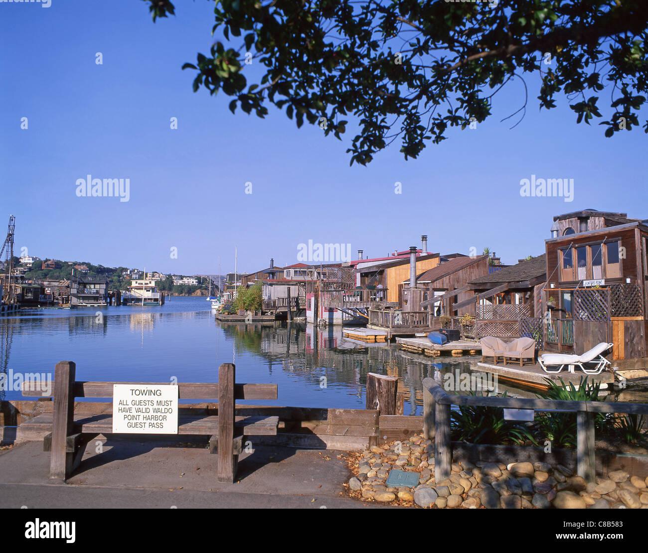 Apartments In San Francisco Bay Area: Sausalito Houseboats, Waldo Point Harbor, Sausalito, San