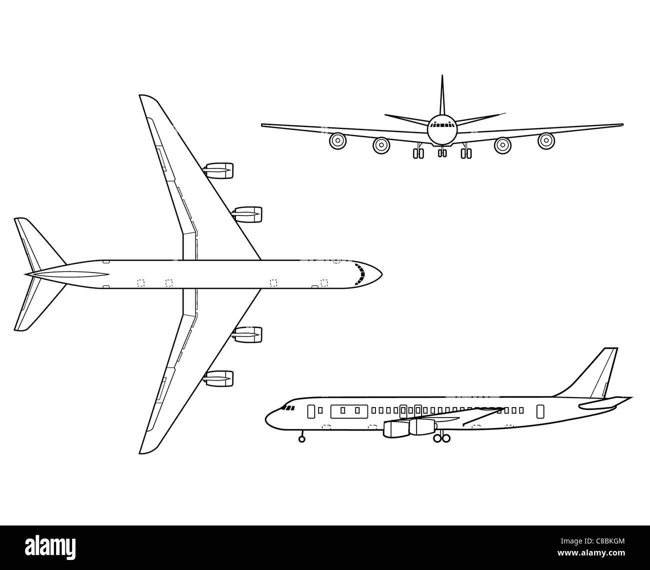 Line Drawing Airplane : Nice commercial airliner fly by wire drawing photos