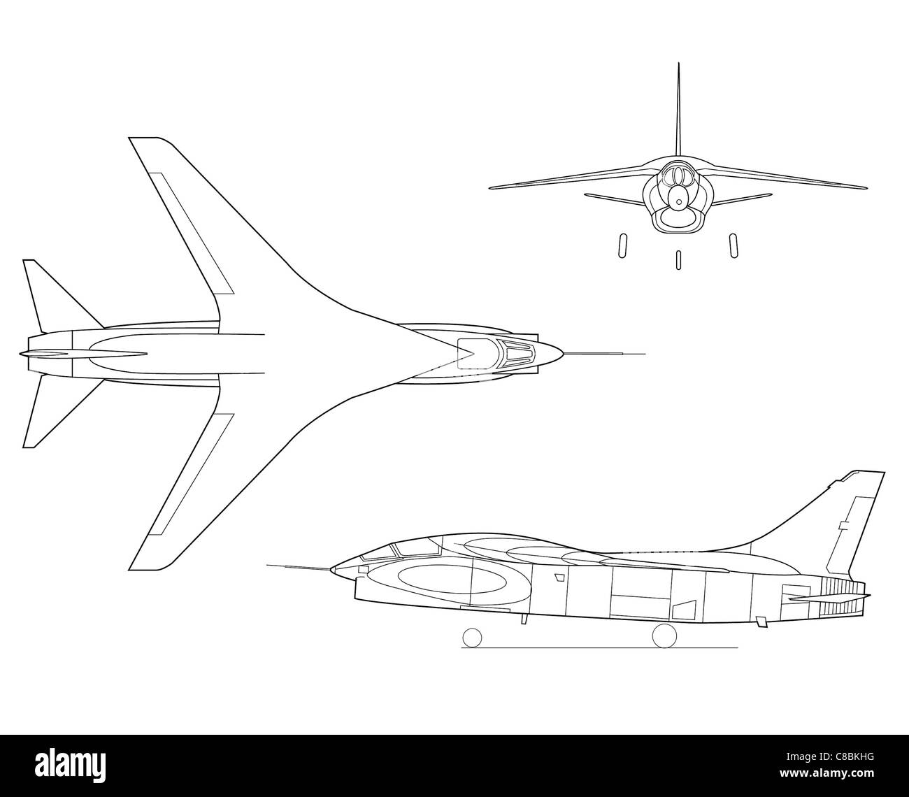 Line Drawing Airplane : View aircraft line art drawing the f supercritical