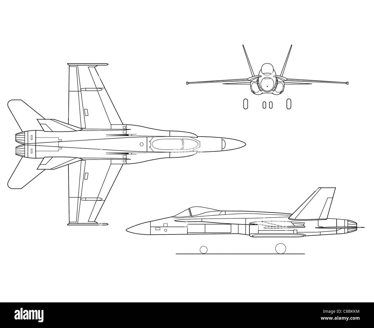 Line Drawing Airplane : View aircraft line art drawing the f hornet stock