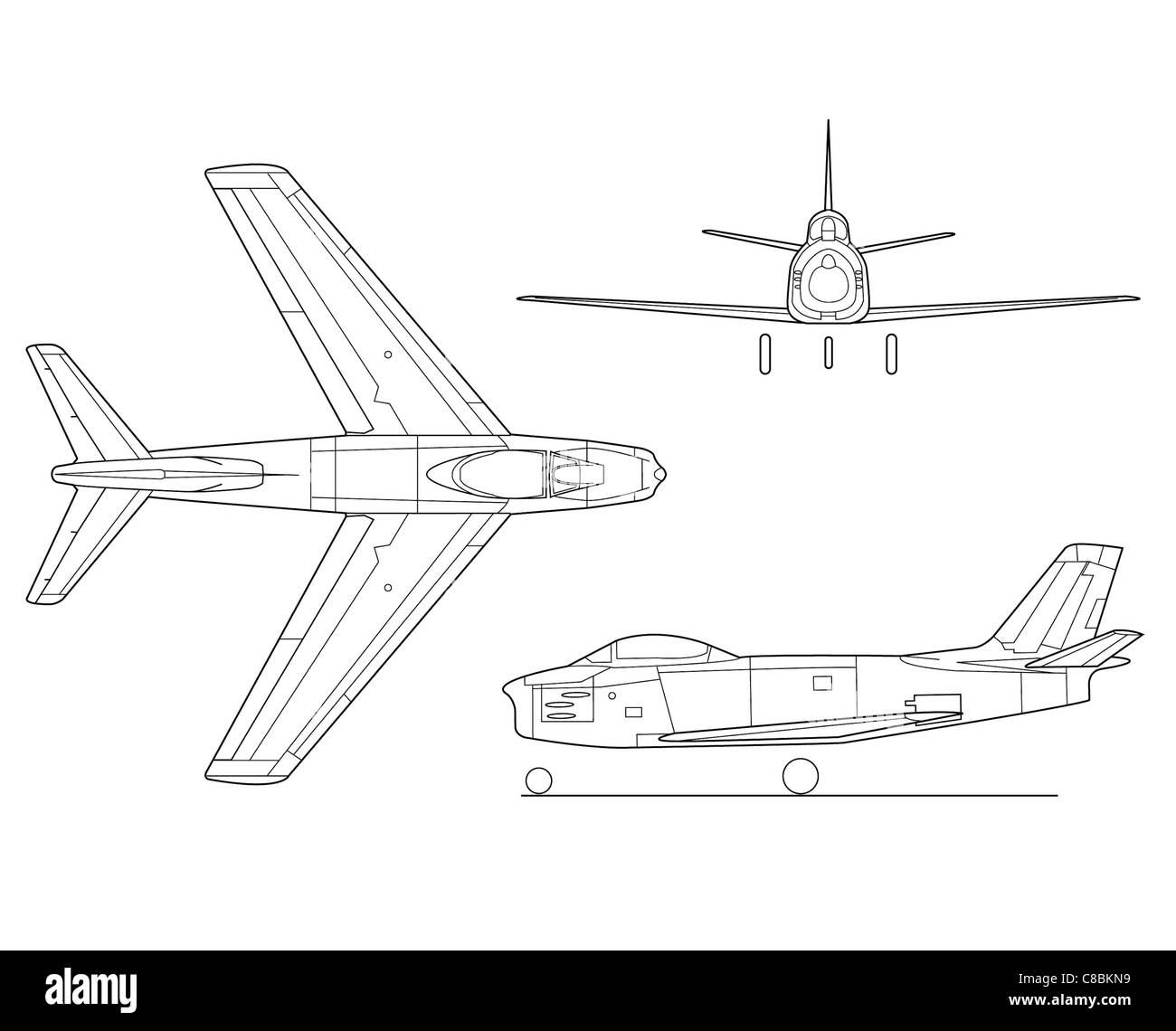 Line Drawing North America : View aircraft line art drawing north american f sabre