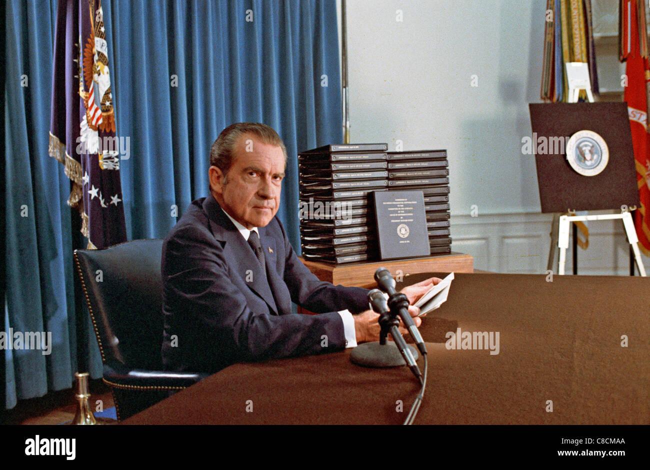 RICHARD NIXON (1913-1994) 37th President of the USA during ...