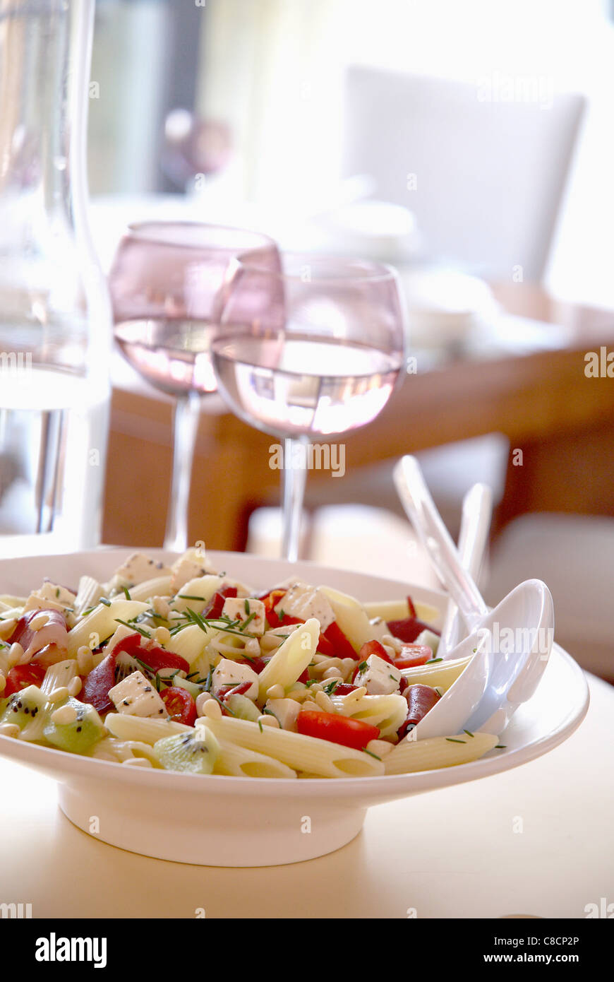 Penne,smoked Duck Brest And Vegetable Salad Stock Photo, Royalty Free ...