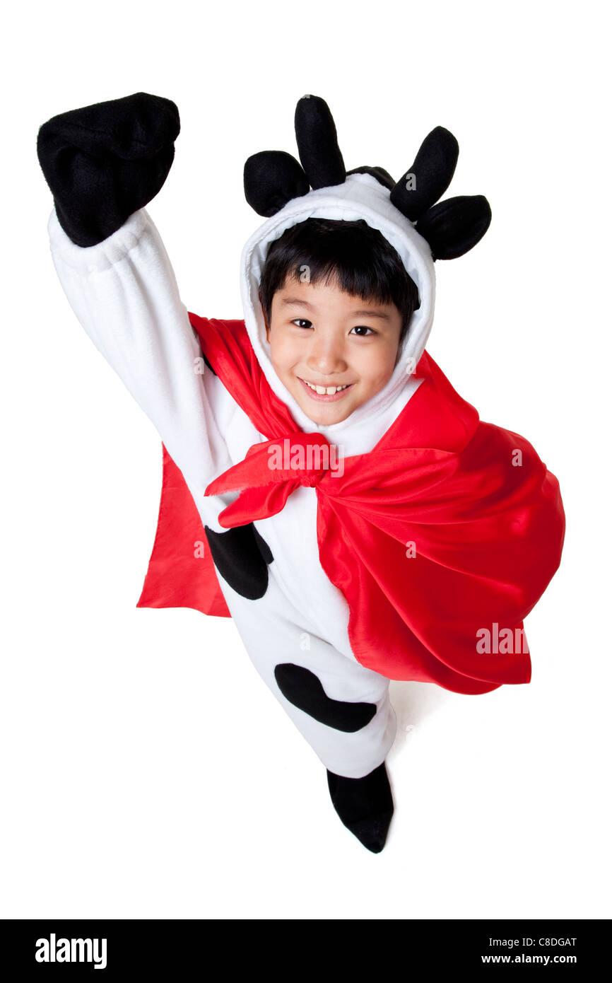 Superhero cow
