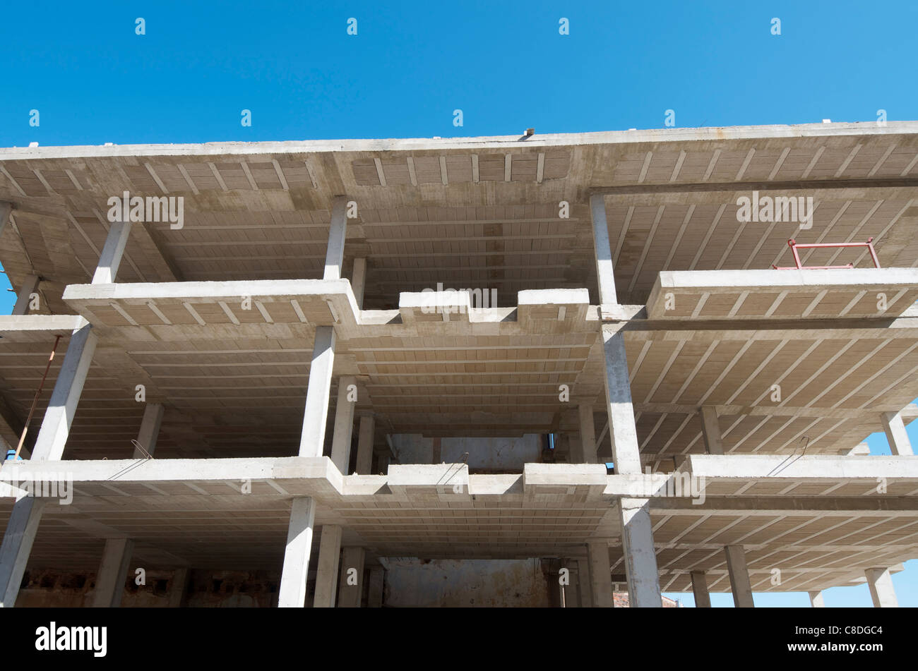 Reinforced Concrete Slab : Reinforced concrete slabs of a residential building under