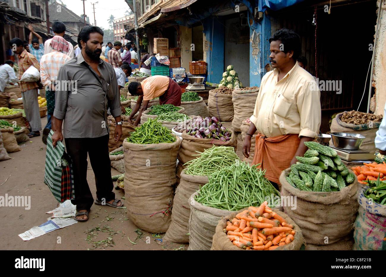 Vegetable market, Chalai, Trivandrum, Kerala, India Stock ...Kerala Vegetable Market