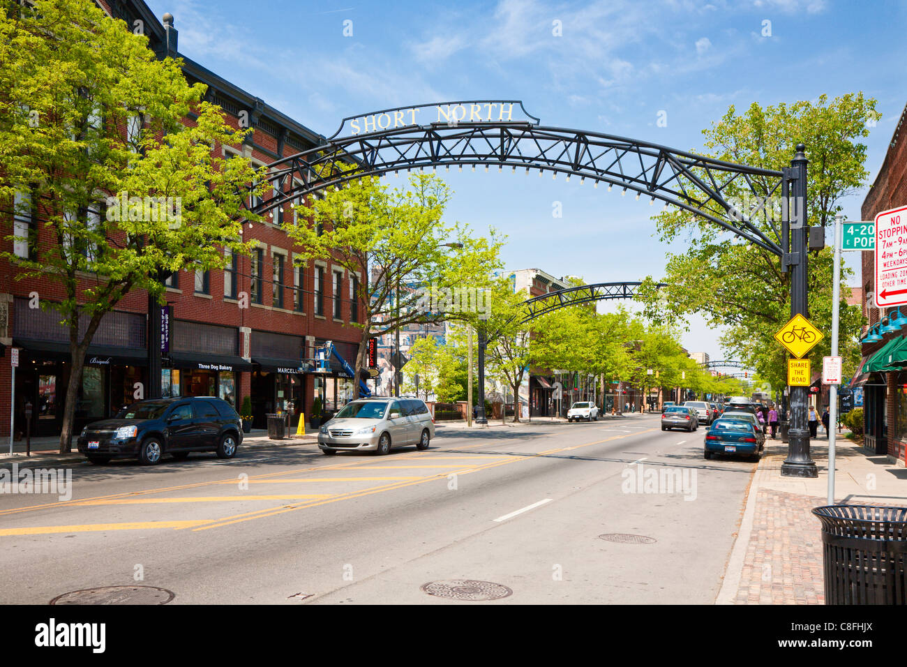 metal-arches-over-high-street-in-the-sho