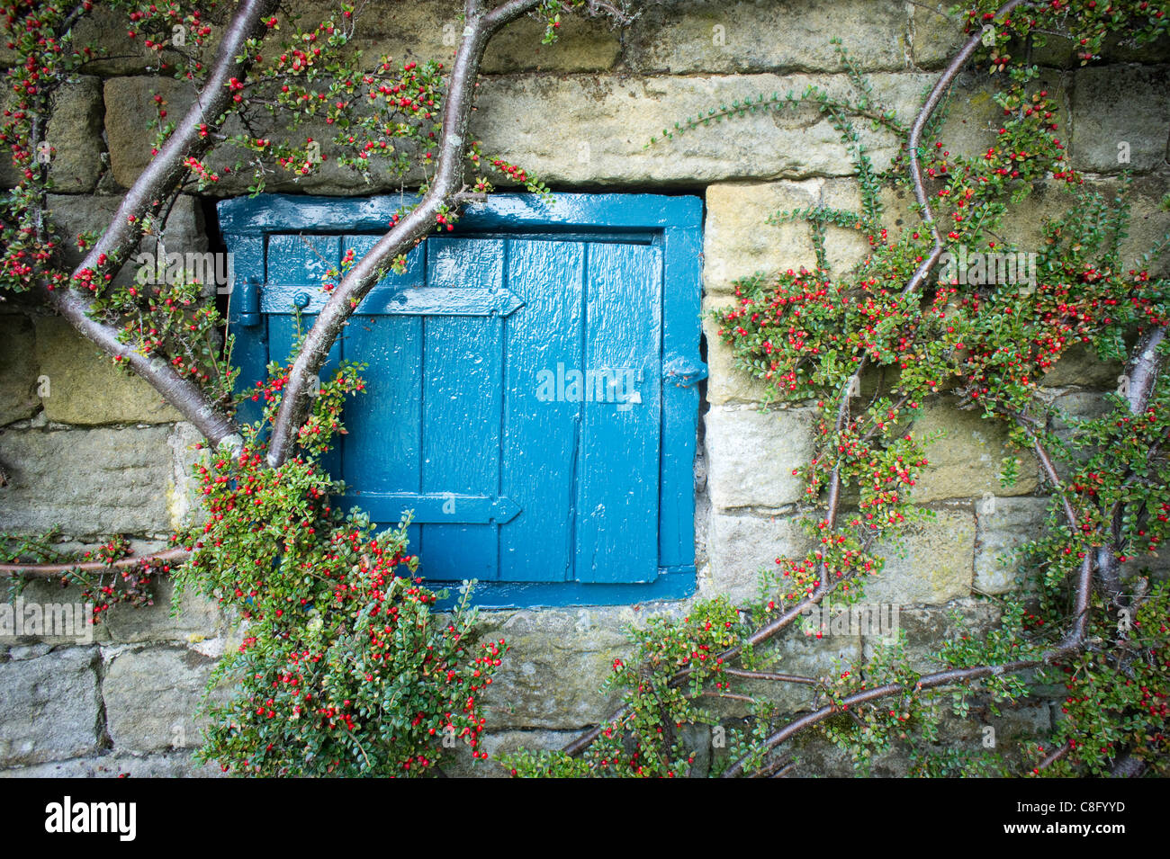 Small Large Hinged Access Door On A Stone Outbuilding