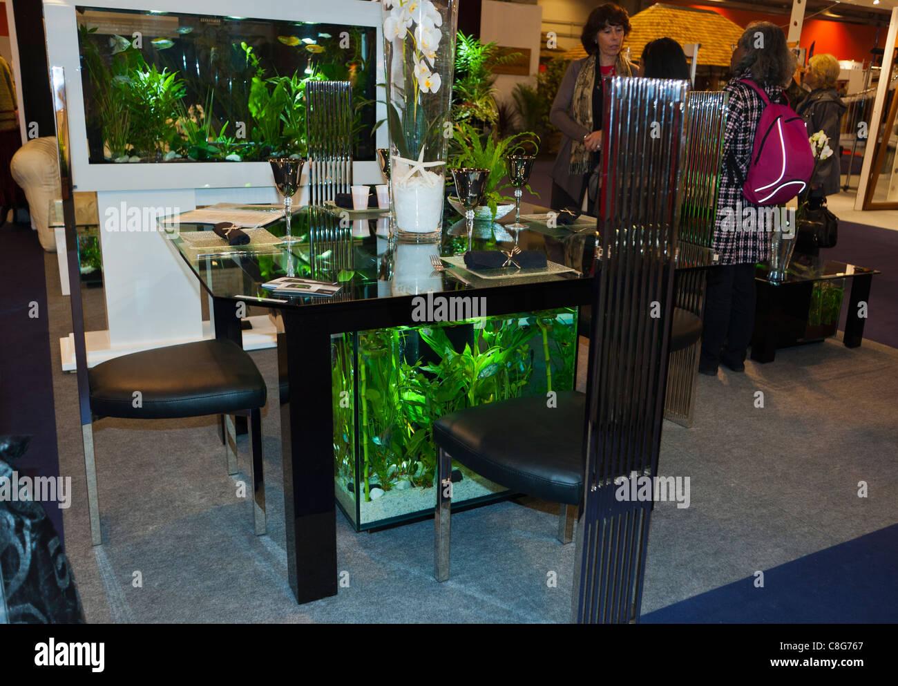 Paris France Glass Aquarium Dining Table on display in Consumer