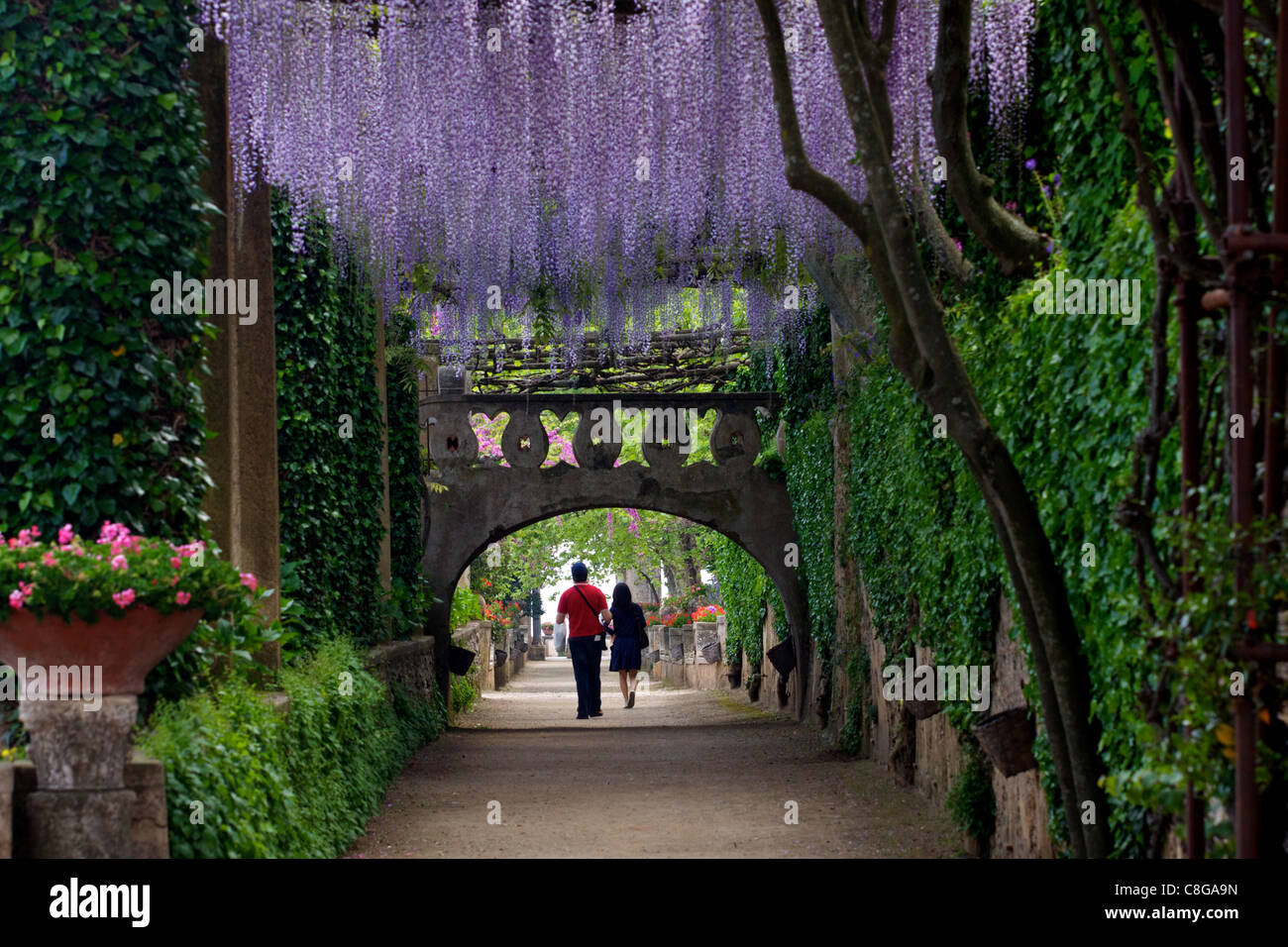 The Gardens Of The Villa Cimbrone In Ravello Amalfi Coast