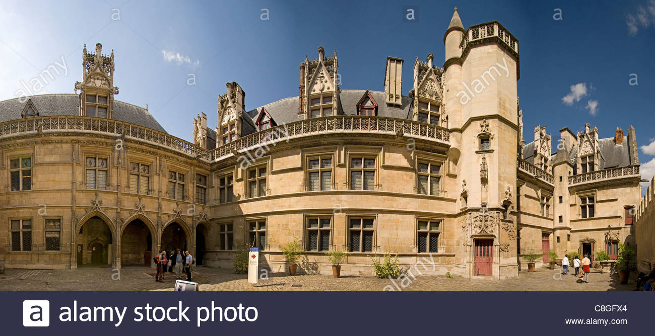 courtyard of the mus e de cluny mus e national du moyen age paris stock photo 39701708 alamy. Black Bedroom Furniture Sets. Home Design Ideas